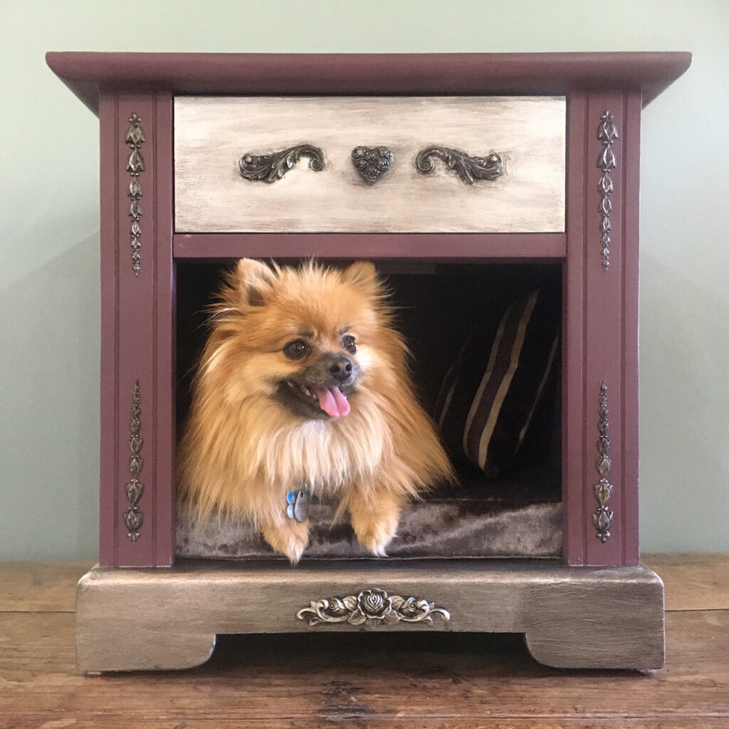 Purple Dog Bed End Table