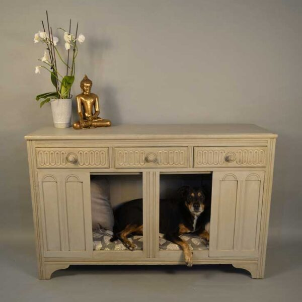 Aged Grey Sideboard Dog Bed