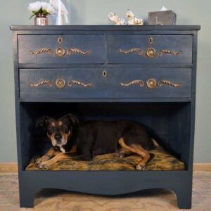 Ink Blue Dog Bed Drawers