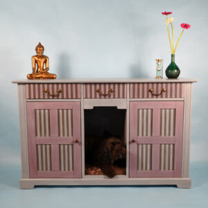 Striped Sideboard Dog Bed