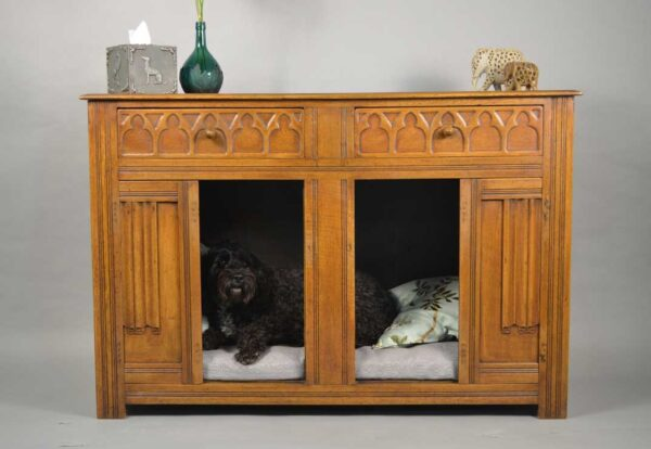 Oak Sideboard with Dog Bed